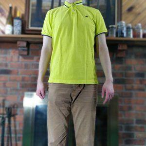 AEROPOSTALE Yellow A87 Uniform Rugby Polo